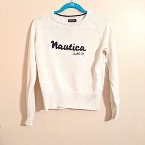 Crew neck Nautica sweater medium